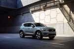 2020 Volvo XC40 T5 Momentum AWD in Light Blue - Driving Front Right Three-quarter View