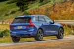 2018 Volvo XC60 T6 AWD in Bursting Blue Metallic - Driving Rear Right View