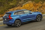 2018 Volvo XC60 T6 AWD in Bursting Blue Metallic - Driving Rear Right Three-quarter View
