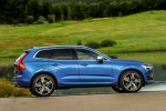 2018 Volvo XC60 T6 AWD in Bursting Blue Metallic - Driving Right Side View