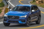 2018 Volvo XC60 T6 AWD in Bursting Blue Metallic - Driving Front Left View
