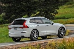 2018 Volvo XC60 T8 eAWD in Crystal White Metallic - Driving Rear Right Three-quarter View