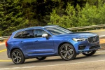 2019 Volvo XC60 T6 AWD in Bursting Blue Metallic - Driving Front Right Three-quarter View