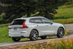 2019 Volvo XC60 T8 eAWD in Crystal White Pearl Metallic - Driving Rear Right Three-quarter View