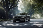 2019 Volvo XC60 T6 AWD in Pine Gray Metallic - Driving Front Left View